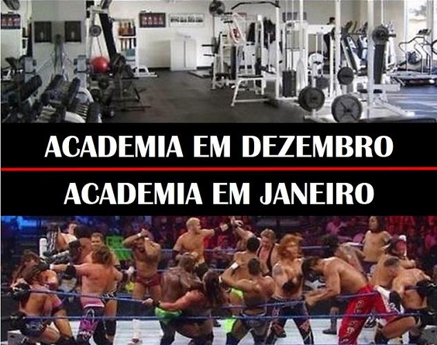 Academia em dezembro vs janeiro